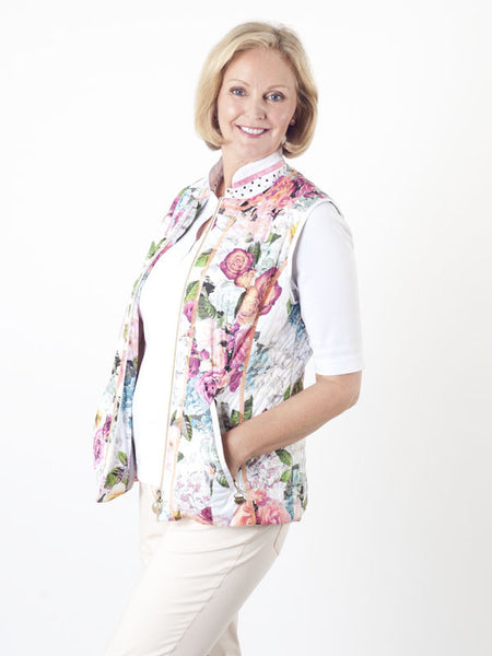 Gerry Weber Floral Quilted Gilet