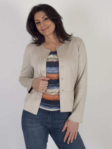 Gerry Weber Stone Mock Suede Jacket
