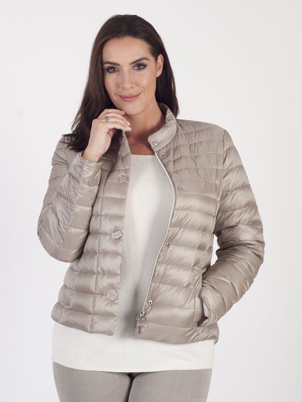 Gerry Weber Taupe Silky Padded Jacket
