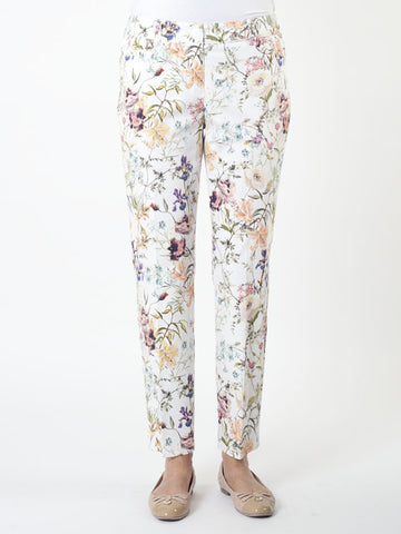 Gerry Weber 'Patrizia' Floral Stretch Cotton Ankle Trousers