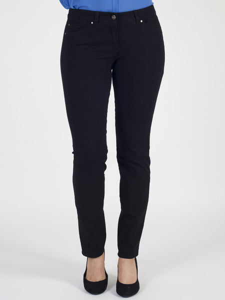 GERRY WEBER Black Slim-leg Roxy Jeans