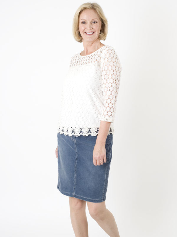 Gerry Weber Denim-look Jersey Skirt