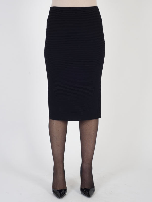 Gerry Weber Black Ribbed Knit Skirt