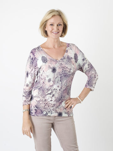 Gerry Weber Multi-print Fine-knit Jumper