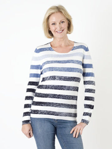 Gerry Weber Washed Stripe Jumper