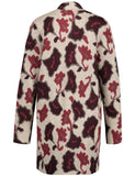 Gerry Weber Cream/Merlot/Amber Long Line Jacquard Knit Cardigan