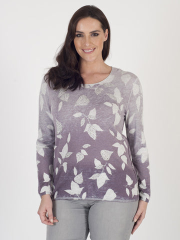 Gerry Weber Ombré Leaf Jumper