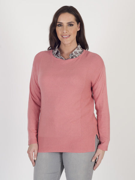 Gerry Weber Rib-trim Coral Jumper