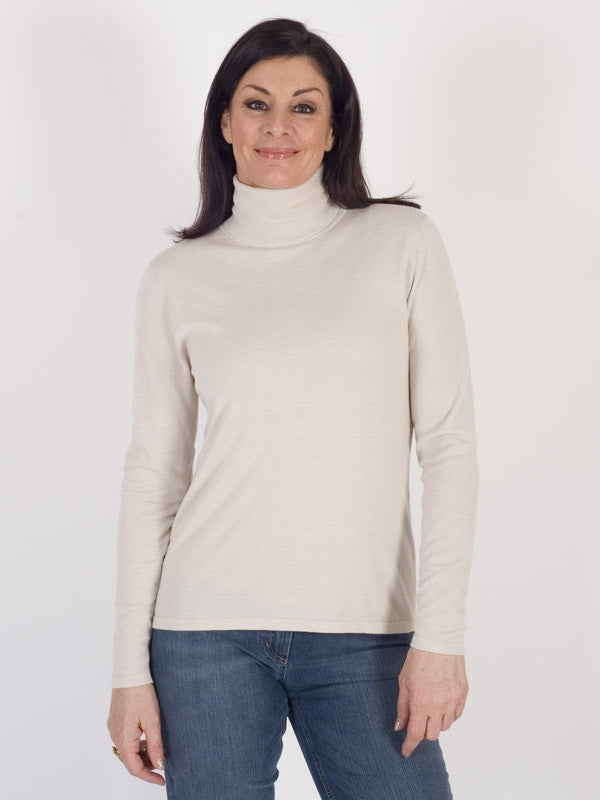 69168dce65f9ae Gerry Weber Stone Fine Knit Roll Neck Jumper – Chesca