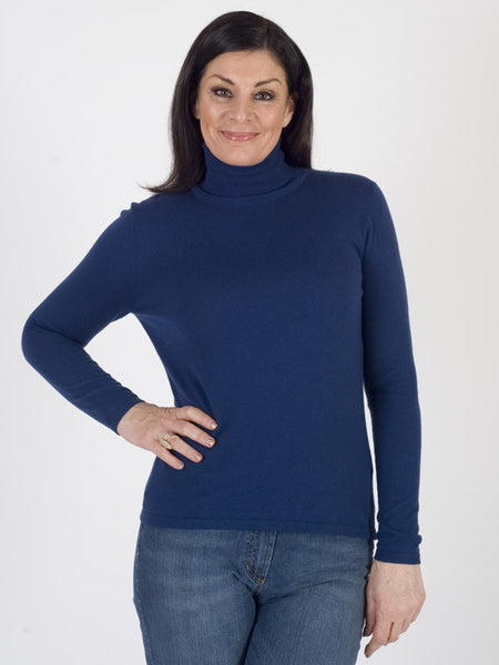 Gerry weber Cobalt Blue Fine Knit Roll Neck Jumper
