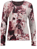 Gerry Weber Wine Printed Knitted Cardigan