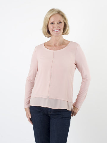 Taifun Blush Chiffon-front Top