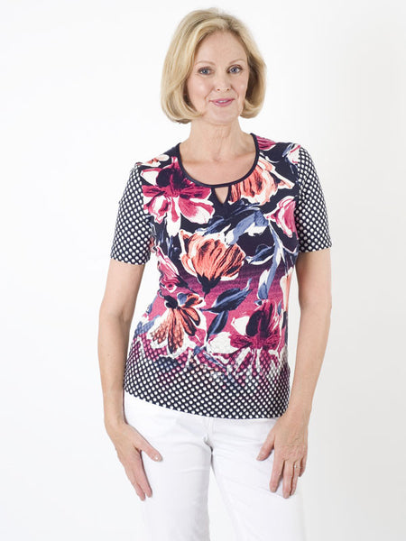 Gerry Weber Flower & Spot Jersey Top