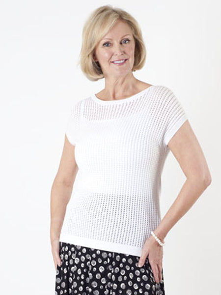 Gerry Weber White Loose-knit Top