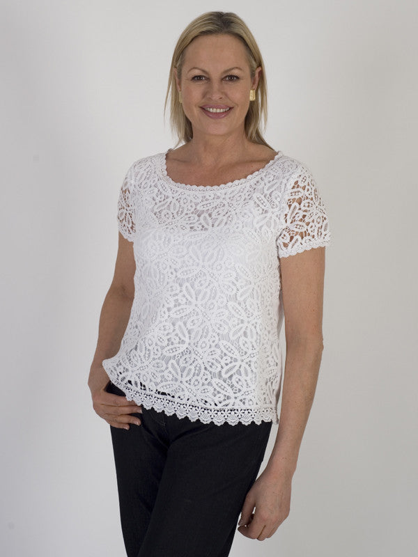 Gerry Weber Cotton Tape Lace Top