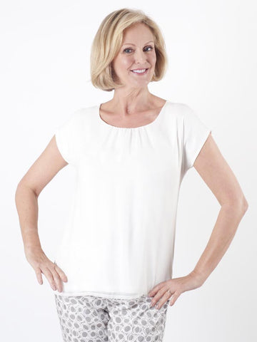 Taifun Ivory Two Layer Top