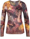 Gerry Weber Burn Out Printed Jersey Top