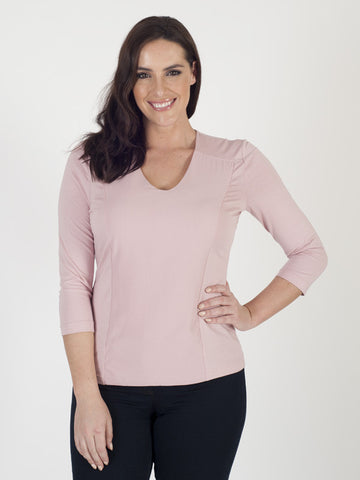 Gerry Weber Rose Pink V-neck Top