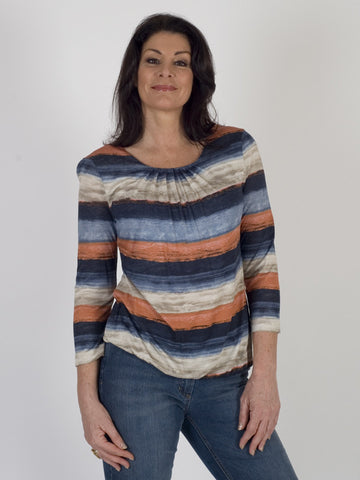 Gerry Weber Brushstroke Stripe Jersey Top