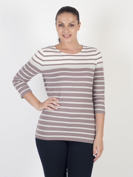 Gerry Weber Lilac Stripe Jersey Top