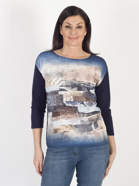 Gerry Weber Printed Front Jersey Top