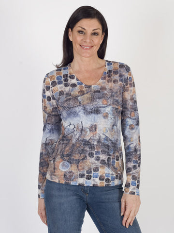 Gerry Weber Burnout Printed Jersey Top