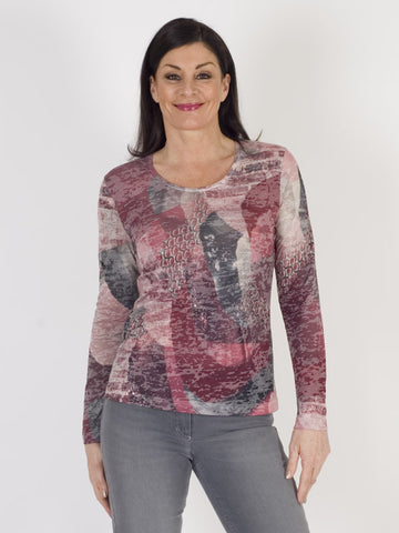 Gerry Weber Burnout Jersey Printed Top