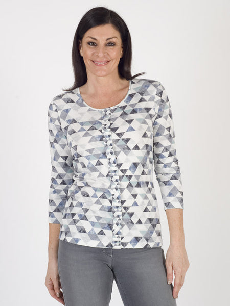 Gerry Weber Abstract Diamond Printed Jersey Top