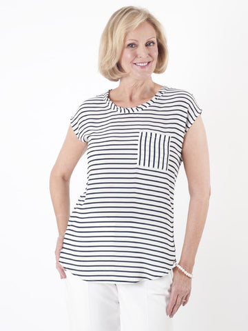 Taifun Stripe Sleeveless Blouse