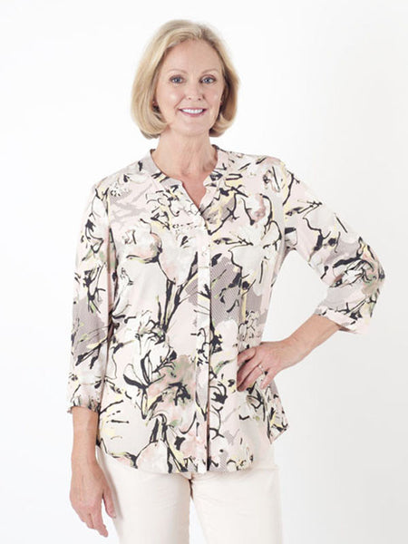Gerry Weber Multi-print Collarless Blouse