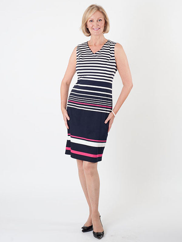 Gerry Weber Stripe V-neck Dress