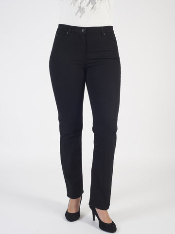 Gerry Weber Black 'Romy' Straight Leg Jean (front view)