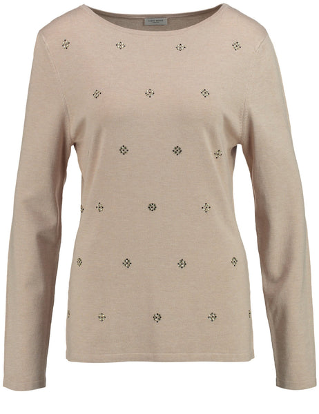 GERRY WEBER Beige Sparkle Jumper
