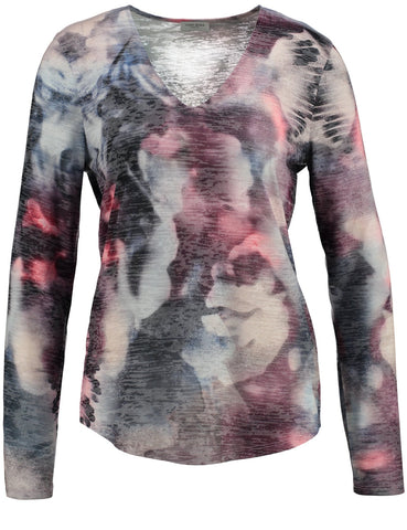 GERRY WEBER Abstract-print Jersey Top