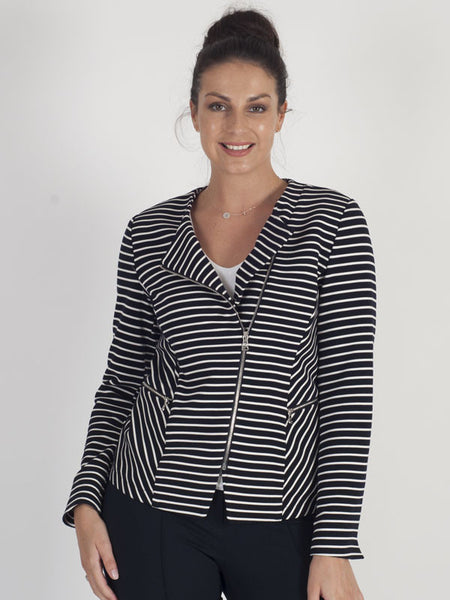 Gerry Weber Navy Stripe Jacket