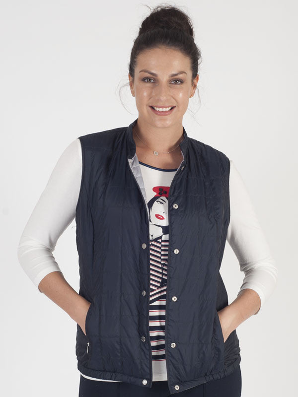 Gerry Weber Blue Reversible Padded Gilet