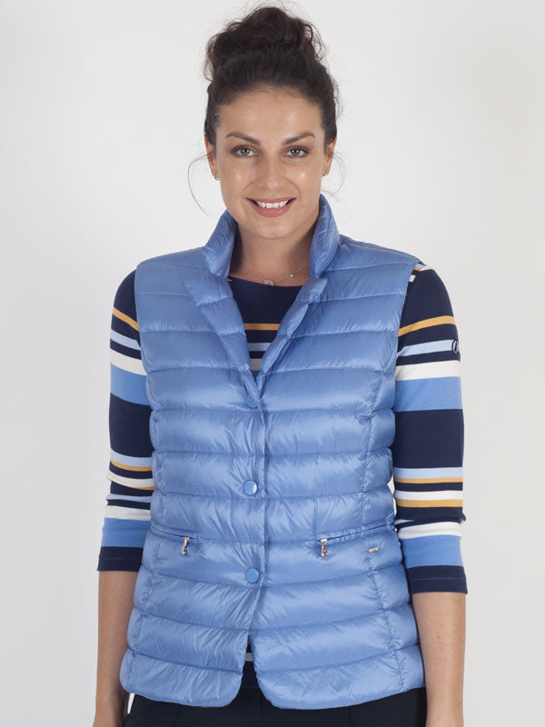 Gerry Weber Blue Padded Gilet