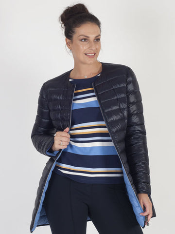 Gerry Weber Blue Reversible Quilted Coat