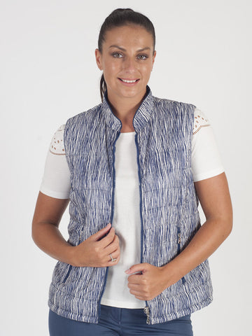 Gerry Weber Blue Stripe Reversible Gilet