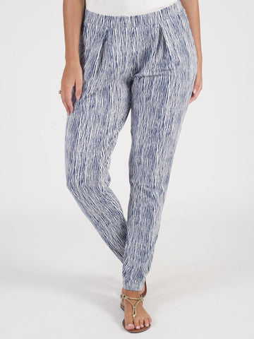 Gerry Weber Blue Jersey Stripe Trouser