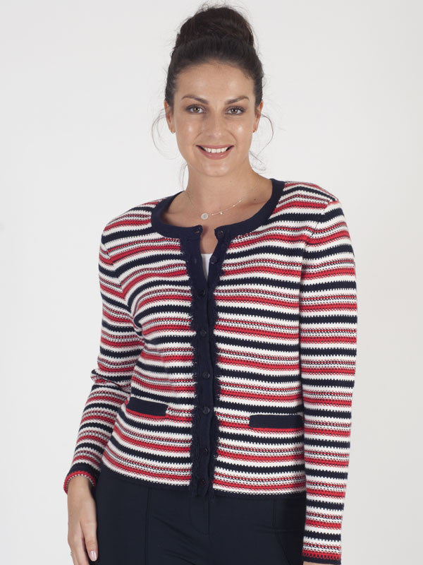 f6493983d6 Gerry Weber Red Stripe Cardigan – Chesca