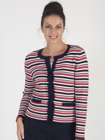 Gerry Weber Red Stripe Cardigan