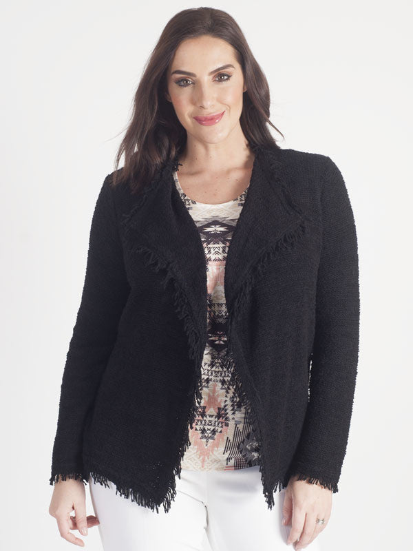 Gerry Weber Black Fringed Cardigan