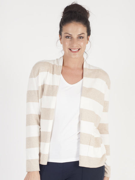 Gerry Weber Beige Stripe Cardigan
