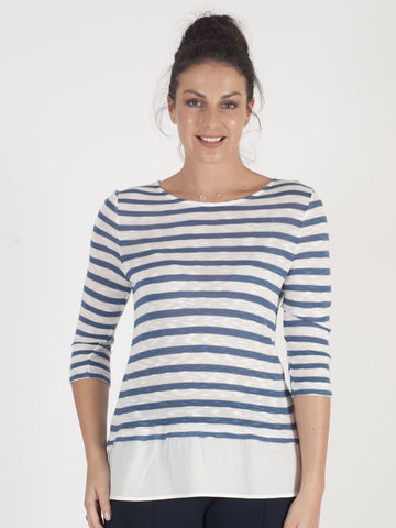 Gerry Weber Blue Stripe Top