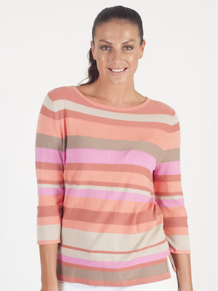 Gerry Weber Orange Stripe Knitted Jumper