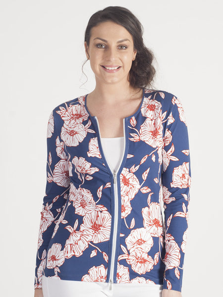 Gerry Weber Navy Floral Cardigan