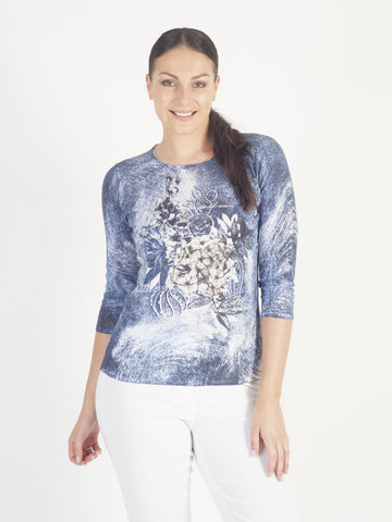 Gerry Weber Cotton Rich Printed Jumper