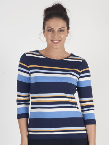 Gerry Weber Navy Stripe Top