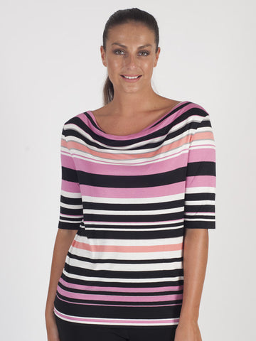 Gerry Weber Pink Stripe Print Top